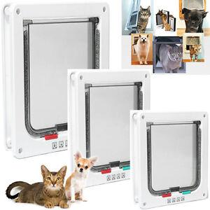 Pet Cat Dog Safe  Ways Locking Flap Screen