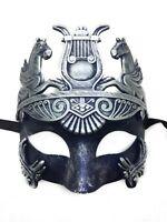 Silver Blue Hercules Venetian Ancient Roman Greek God Egypt Men Masquerade Mask