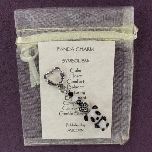 PANDA TOTEM CHARM 3D Amulet Talisman Bear Fetish Animal Magick Heart Symbol Sign