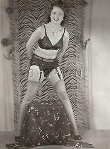Original Vintage 1940s-60s Semi Nude RP- Stockings- Garter