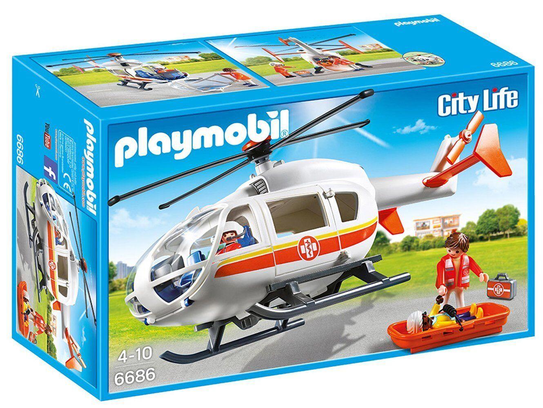 Playmobil City life - Rettungshubschrauber aus Notfall. Referenz 6686