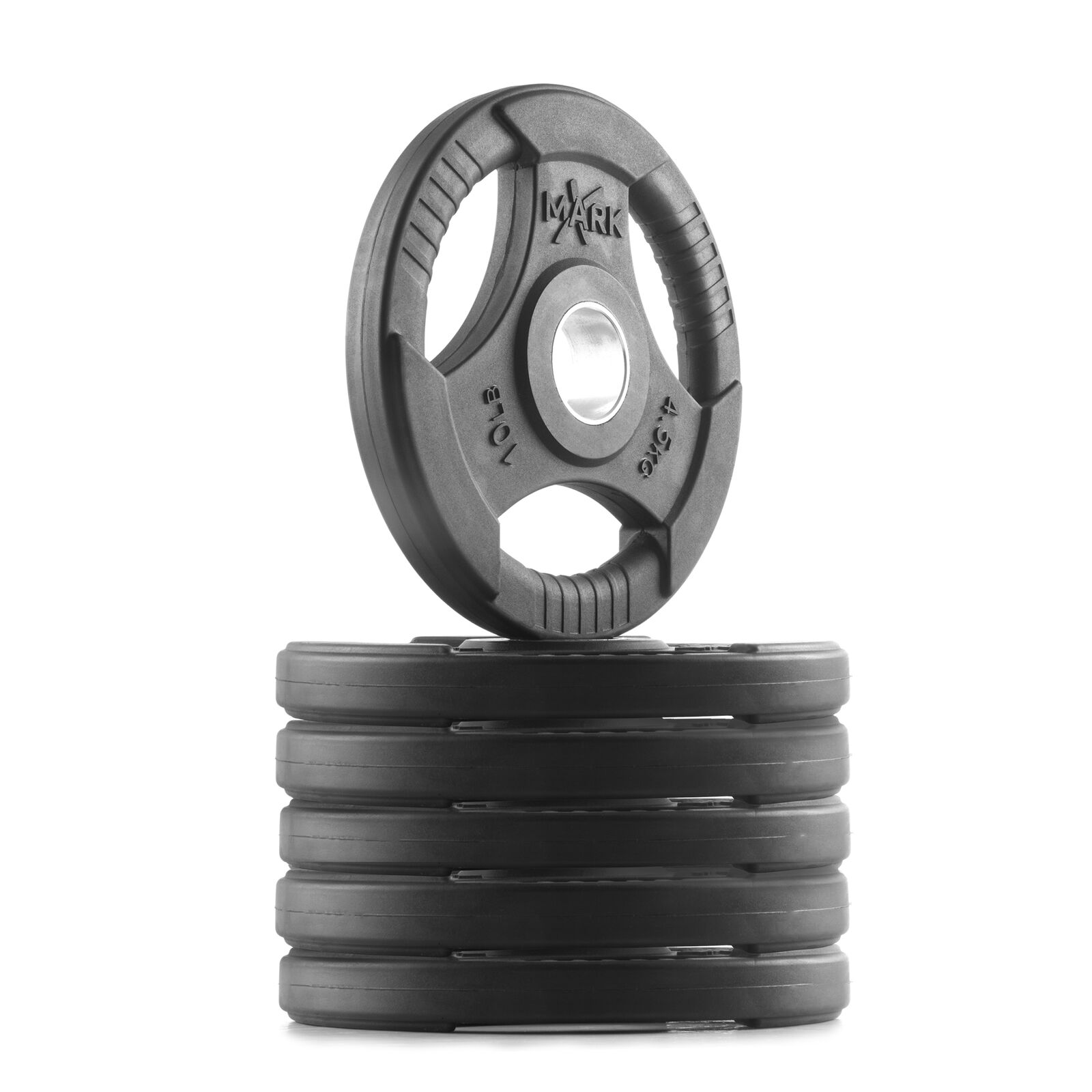 XMark Rubber Coated  Tri-grip Olympic Weight Plates XM-3377-10-SIX (3-10 lb Pair  beautiful
