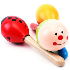Kids-Gift-Cute-Sand-Hammer-Rattle-Musical-Instrument-Percussion-Wooden-Ball-Toy