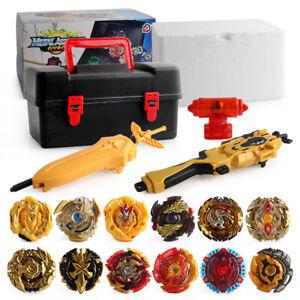 12PCS Beyblade Gold Burst Set Spinning avec Lanceur Grip Portable Box Case Jouet