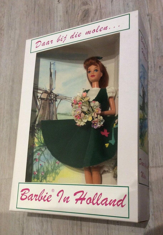 Barbie en Holanda Daar bij Die Molen en el molino nunca quitado de la Caja 1997 convención holandés