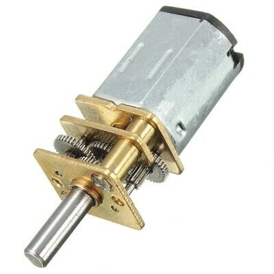 6//12V 300//100//30RPM Mini DC Metal Gear Motor with Gearwheel Shaft Diameter N20