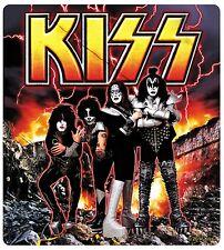 Sticker Kiss Destroyer Album Scene & Band Members Pose Rock Metal Music Decal