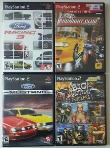 4 games ford racing 3 mustang midnight club truckers playstation 2 tested ebay. Black Bedroom Furniture Sets. Home Design Ideas