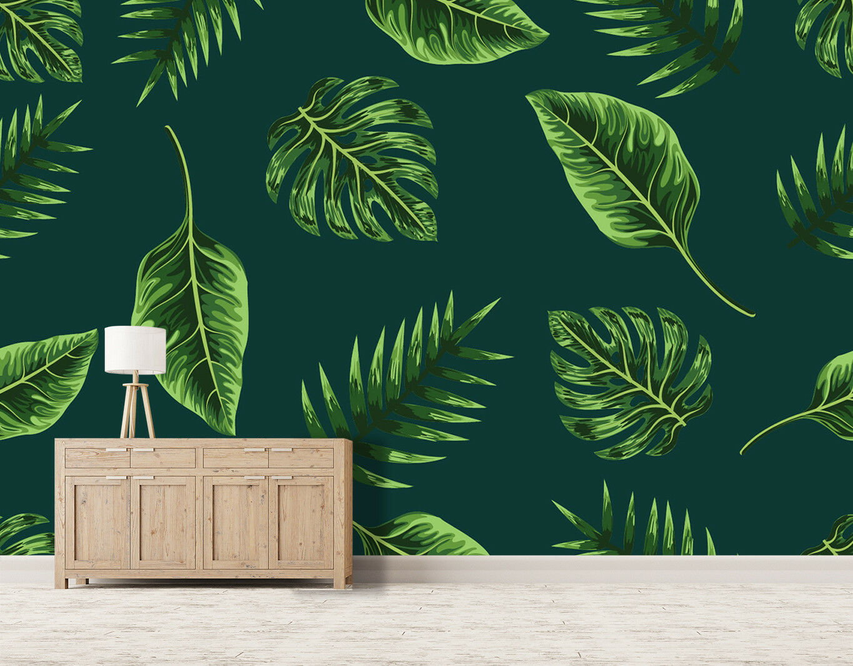 3D Green Leaf 770 Wall Paper Murals Wall Print Wall Wallpaper Mural AU Summer