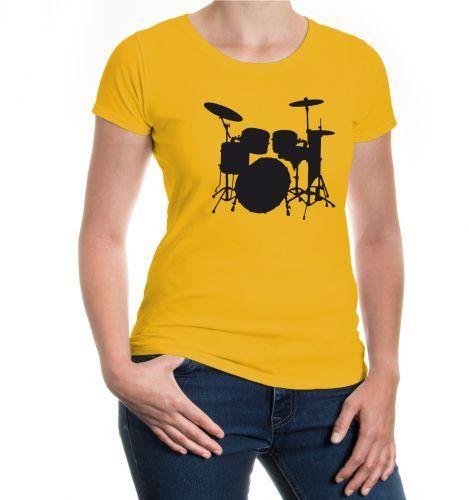 Damen KurzarmGirlie T-Shirt Schlagzeug drums drummer percussion Instrument Band