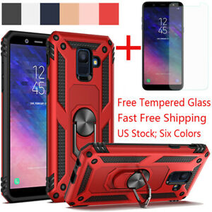 For-Samsung-Galaxy-J4-J6-Plus-A6-2018-Shockproof-Magnetic-Ring-Stand-Armor-Case