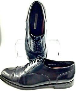Florsheim Oxford Mens Size 11.5 D Black Leather Cap Toe Lace Up Dress Shoe 20382