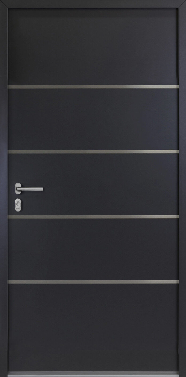 Hausür-Kellertür-Garagentür-Nebeneingangstür 56mm  NBT02 Anthrazit oder Weiss