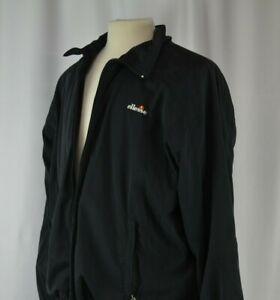 Ellesse-Men-039-s-Track-Suit-Size-52-Warm-Up-Italy-Large-Black-Full-Zip-Casual-Light