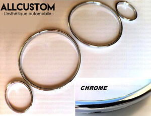 CHROME-GAUGE-RINGS-CLUSTER-METAL-DASHBOARD-DASH-for-BMW-E30-3-SERIES-1982-1991