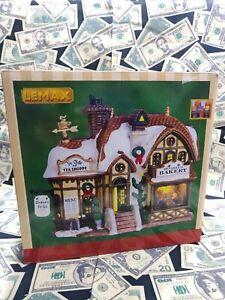 ☃️Lemax Porcelain Lighted Building Christmas Village Devaney's Bakery in Box