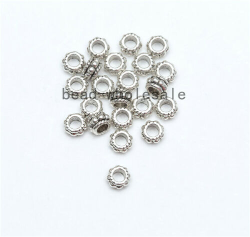 Wholesale 500Pcs Tibet Silver Beads Spacer For Jewelry Making European Bracelet