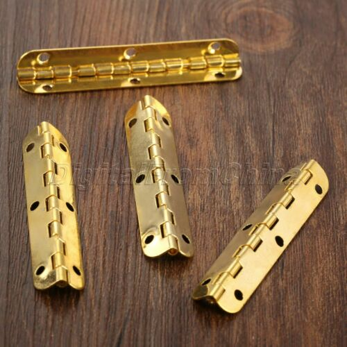 Arrondie Coin Charnières bois poitrine décorative armoire Dollhouse Charnières de porte 4pcs