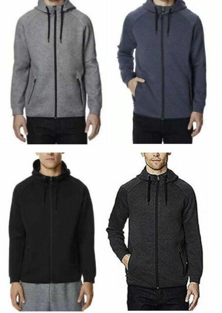 32 Degrees Men/'s Tech Fleece Full Zip Hoodie Sport Sweatshirt Black M 2XL