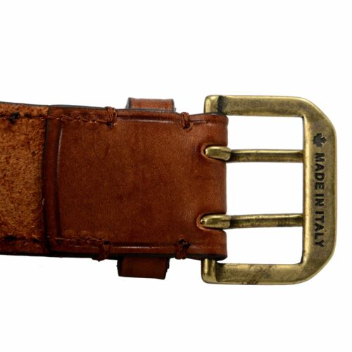 Dsquared2 100/% Leather Brown Men/'s Fashion Belt Sz 36 40 42 44