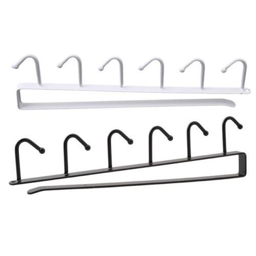 6 Hooks Iron Cup Holder Hanger Home Cupboard Storage Rack Multicolor Hook KI