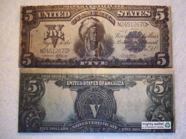 1899 Silver Certificate Indian Chief Running Antelope Tyvek Wallet ...