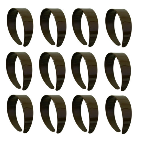 Twelve Brown Girls Wide Headbands Cute Hard Hairbands with Teeth  GREAT DEAL!