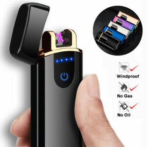 Electric-Double-Aach-Pulse-Plasma-Lighter-Flameless-Metal-Cigarette-USB-Gift