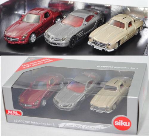 Siku Super 6214 mercedes set 2 SLS AMG Coupé 300 sl colección slr mclaren