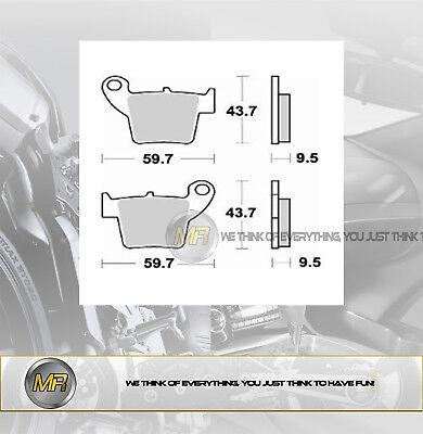 Auto & Motorrad: Teile Systematisch FÜr Honda Hm Crm F X 125 Von 2008 Bis 2009 Hintere BremsbelÄge BremsklÖtze Braki Motorradteile