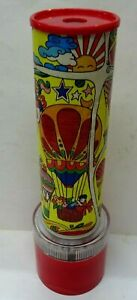 """Vintage Musical Animated Spinning Kaleidoscope """"Its a Small World"""" 11"""" Works"""