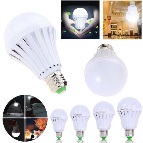 LED E27 Energy Saving Rechargeable Intelligent Light Bulb Lamp Emergency Lights