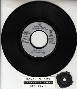 BRYAN-ADAMS-Back-To-You-amp-Hey-Elvis-7-034-45-rpm-record-juke-box-strip-RARE