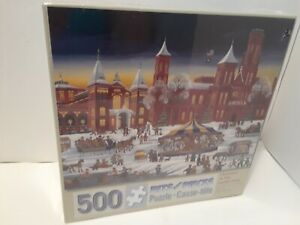 Christmas at the Smithsonian-  Bits and Pieces 500 Piece Puzzle-  BRAND NEW