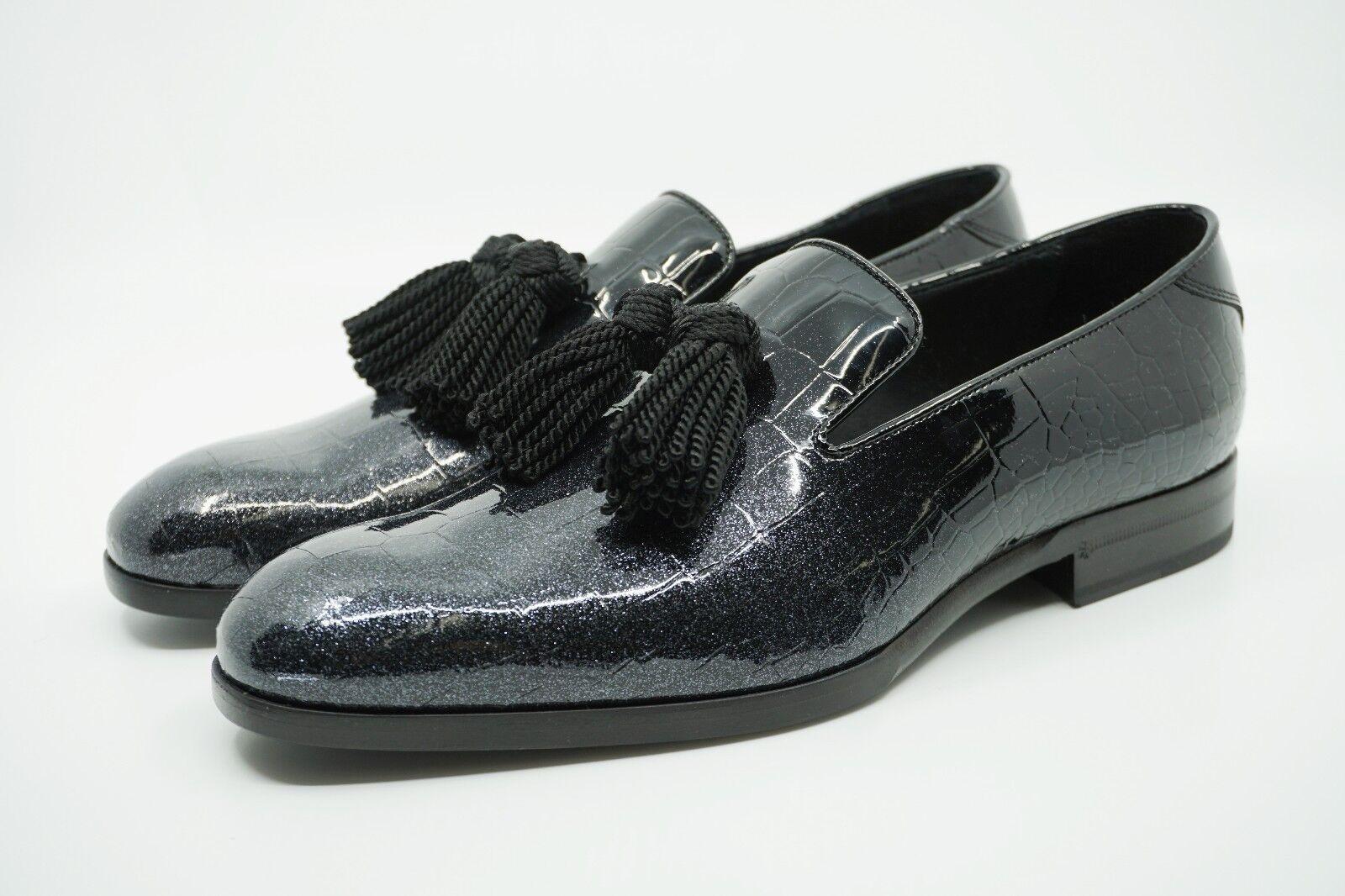 scelta migliore Jimmy Choo Uomo 'Foxley' 'Foxley' 'Foxley' Glitter Patent Croc Degrade Leather Loafers, MSRP  850  prima qualità ai consumatori