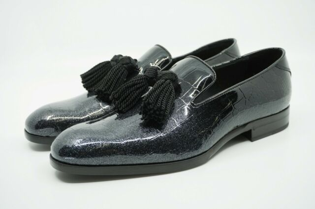 b749d47e2ef Jimmy Choo Men s  Foxley  Glitter Patent Croc Degrade Leather Loafers