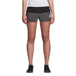 Adidas-Women-Shorts-Training-Logo-Running-Gym-Workout-Climalite-Black-New-CV7793