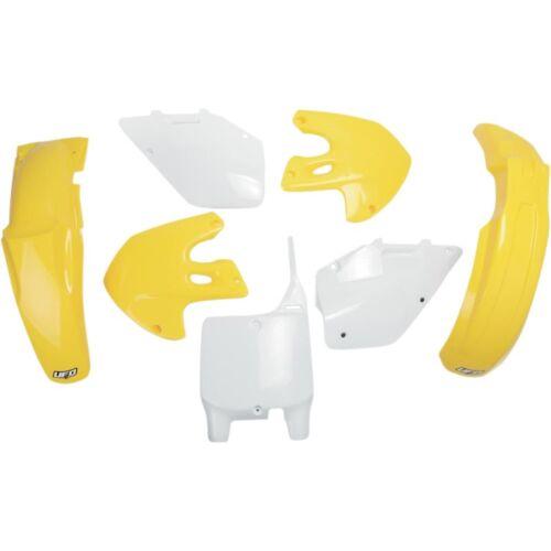 OVNI Plastique Kit s/'adapte à SUZUKI RM 125 250 99-00 jaune//blanc