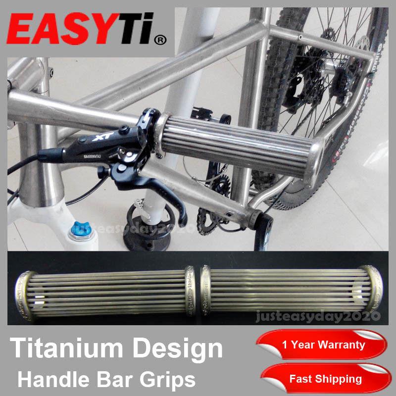 Easy Titanium Alloy Handlebars Bicycle MTB Road Bike Skid-Proof Anti-Skid Grips