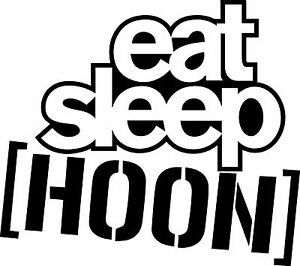 eat sleep hoon ken block vinyl cut sticker decals 200 x 180mm qty rh ebay co uk ken block louisville ken block london tour