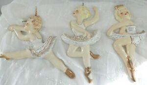 1956-Yona-Lippen-Originals-Girl-Ballerina-Dancers-Wall-Plaque-Figurines-set