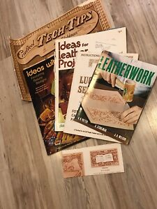 Craft-Tech-Tips-Projects-Designs-Al-Stohlman-Ideas-with-Leather-Magazine-70s-LOT