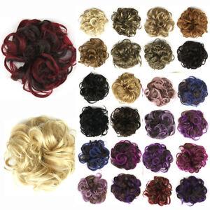 Women-039-s-DIY-Elastic-Wig-Hair-Ring-Curly-Scrunchie-Bun-Chignon-Ponytail-Hairpiece
