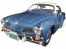 1966 VW VOLKSWAGEN KARMANN GHIA BLUE 1:18 DIECAST CAR BY ROAD SIGNATURE 92198