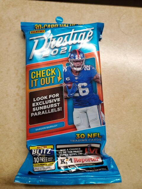2021 NFL Panini Prestige Cello Jumbo Fat Pack Factory Sealed Football Cards