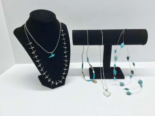 2 Sterling Silver Bird Fetish Necklaces ~ 3 Fashio