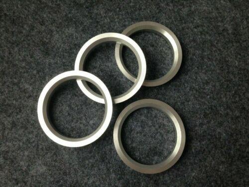 4pc Aluminum Hubrings 67.1mm Car Hub to 72.62mm Wheel Bore ID 67.1 OD 72.62