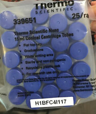 25 Rack Thermo Scientific Nunc 15 Ml Conical Centrifuge Tubes 339651