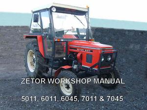 zetor workshop manual 5011 6011 6045 7011 7045 on cd ebay rh ebay co uk Used Tractors Mahindra Tractors
