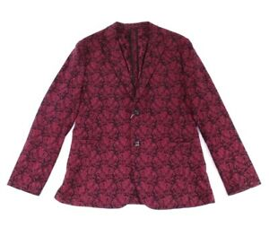 RYAN SEACREST Distinction Red Mens Medium M Holiday Two Button Blazer $225 061